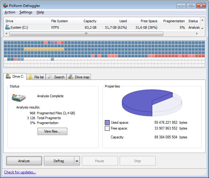 Piriform defraggler V2.19 Latest Version Free Download