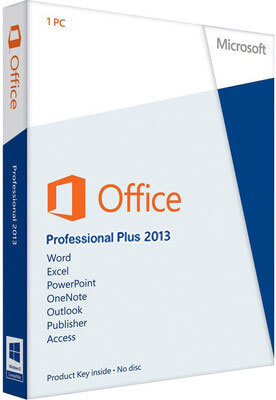 MS Office 2013 Pro Plus ISO Download 32 64 Bit DVD Box