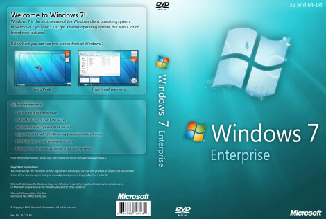 Windows 7 Enterprise Full Version Free Download ISO 32 / 64 Bit