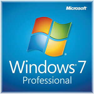 Windows 7 Professional ISO DvD box Logo