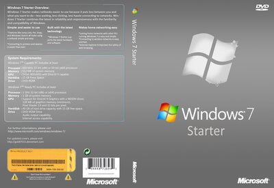 windows 7 starter snpc oa mea