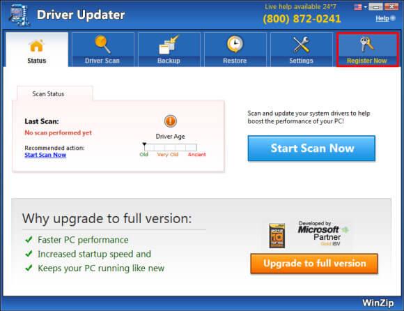 Winzip- Video driver update