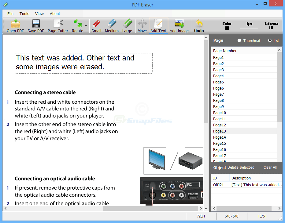How to remove text in pdf file