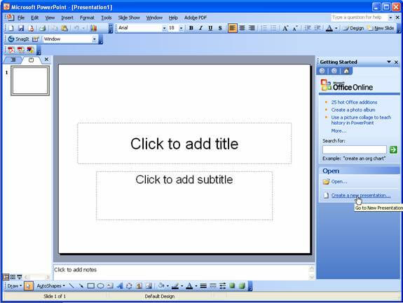 Ms office 2003 Download Powerpoint