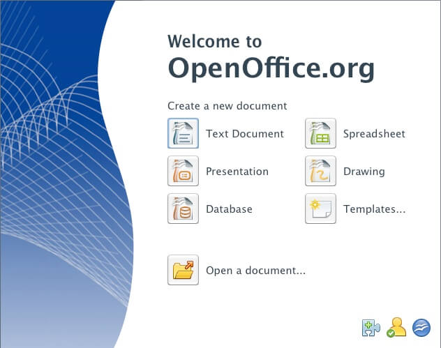 Open office templates