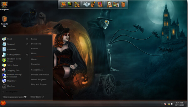 Halloween Skin Pack Free Download V2 For Windows 7 8 Softlay