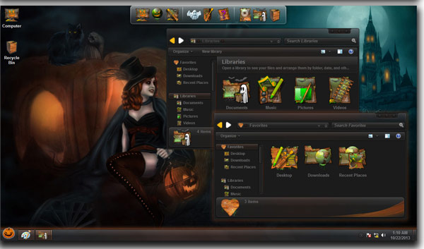 Free Download Skin Pack Halloween For Windows 8