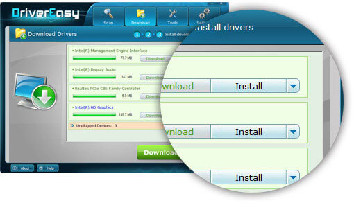 Driver installation Driver Easy Version 4.9