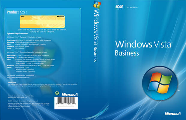 windows vista business oemact dell