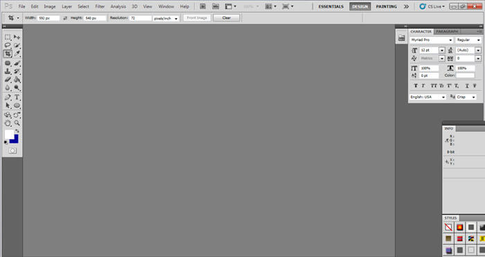 Adobe Photoshop CS5 Interface