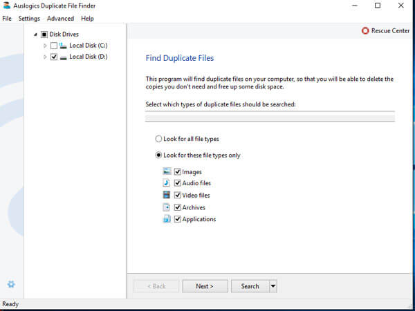 find and delete duplicate files