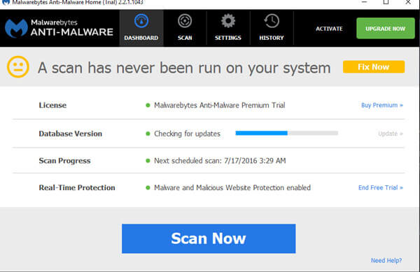 Malwarebytes Premium is an antimalware application that can thoroughly remove even the most advanced malware. Malwarebytes products have a proven record of protecting computers by completely removing all forms of malware, including viruses, Trojans, spyware, adware and rootkits.