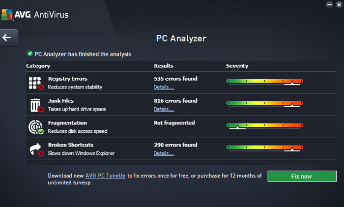 AVG PC Performance