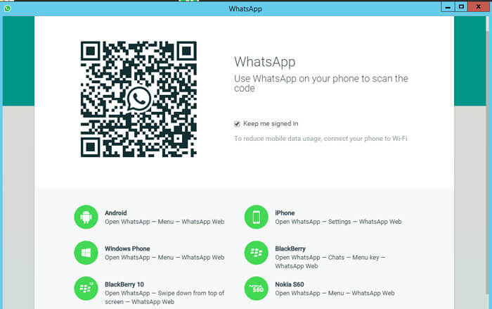 Whatapp Desktop Interface