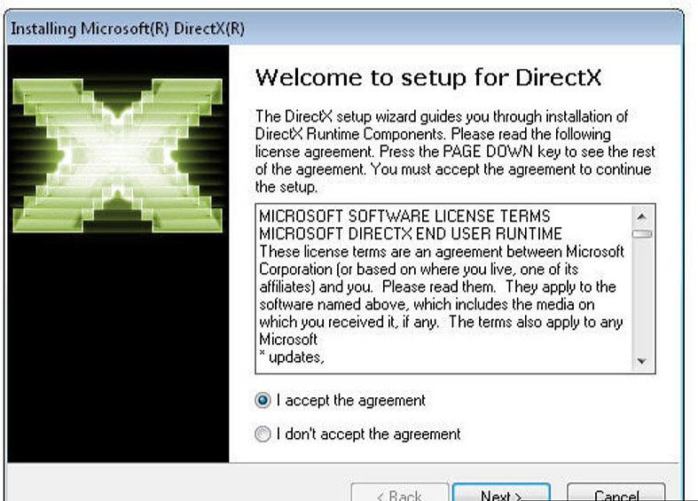 directx 9c setup