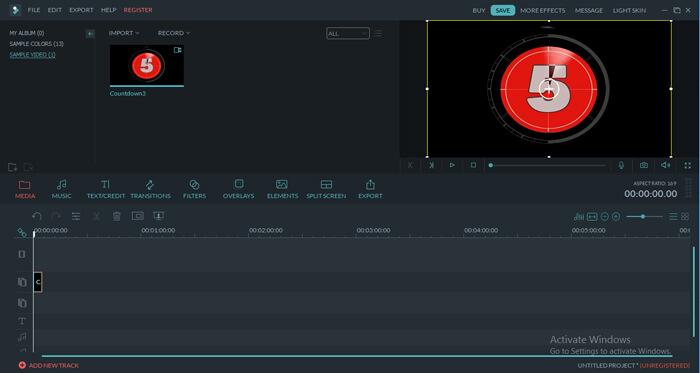 Wondershare Filmora Interface