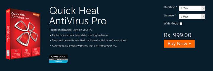 QuickHeal Antivirus Pro 2017 Download