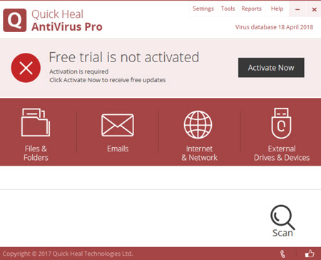 Quick heal antivirus pro 2018 free download windows 10 7 softlay quickheal antivirus 2018 download antivirus for windows 7 ccuart Gallery