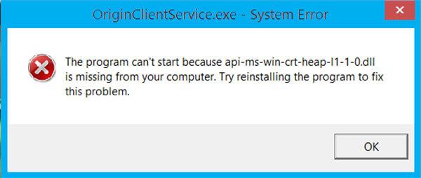 api-ms-win-crt-heap-l1-1-0.dll download 64 bit free for Windows 7, 8,10