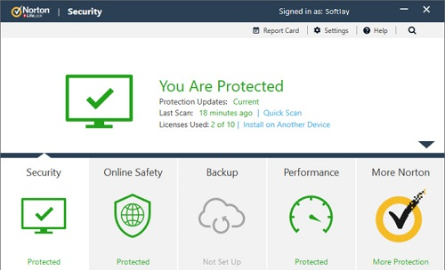 norton security deluxe 2019 user interface