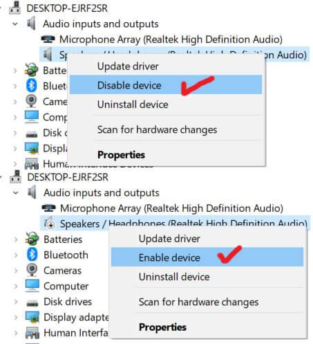 Fix audio renderer error please restart your computer